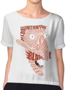 Nigel Thornberry Typography Chiffon Top