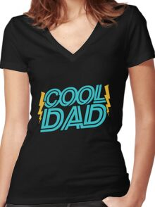 Cool Dad Women's Fitted V-Neck T-Shirt