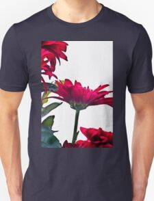 Red Chrysanthemum Flowers Unisex T-Shirt