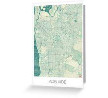 Adelaide Map Blue Vintage Greeting Card