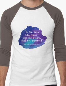 A Court of Mist and Fury - Watercolour Quote Men's Baseball ¾ T-Shirt