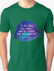 A Court of Mist and Fury - Watercolour Quote Unisex T-Shirt