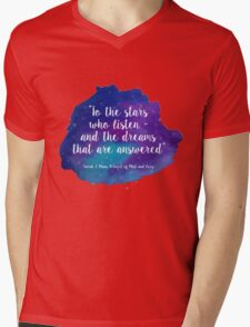 A Court of Mist and Fury - Watercolour Quote Mens V-Neck T-Shirt