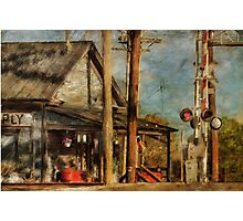 Train's Coming - Berryville Farm Supply Photographic Print
