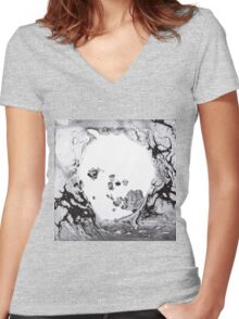 Moon shaped pool Women's Fitted V-Neck T-Shirt