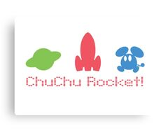 Chu Chu Rocket Icons Retro Canvas Print