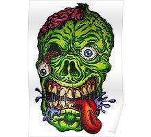 Zombie Skull Brains Poster