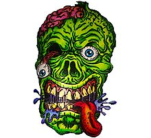 Zombie Skull Brains Photographic Print