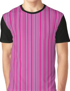 Vertical stripes pink colors pattern Graphic T-Shirt
