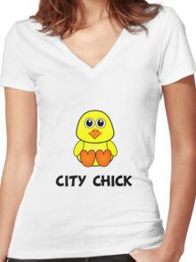 City Chick Women's Fitted V-Neck T-Shirt