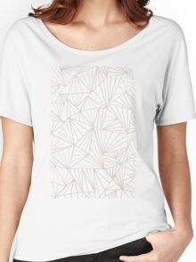 Ab Fan Grey And Nude Women's Relaxed Fit T-Shirt