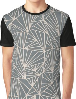 Ab Fan Grey And Nude Graphic T-Shirt