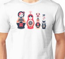 Russian Nesting Dolls – Hot Pink Unisex T-Shirt