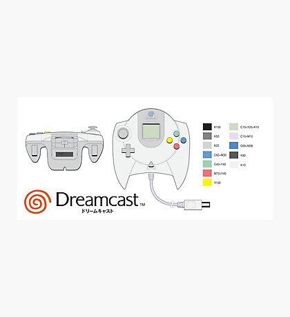 Dreamcast Japanese Controller Photographic Print
