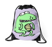 A Happy Little Alligator Drawstring Bag