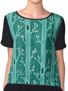 Seamless pattern with trees Chiffon Top