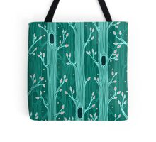 Emerald forest. Seamless pattern with trees Tote Bag