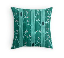 Seamless pattern with trees Throw Pillow