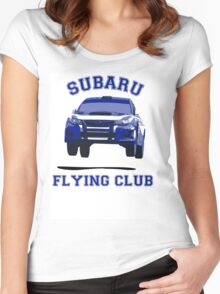 Subaru Flying Club Car Women's Fitted Scoop T-Shirt