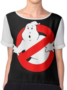 Ghost logo Chiffon Top