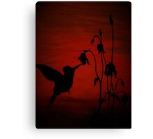 Daddy's Hummingbird Canvas Print