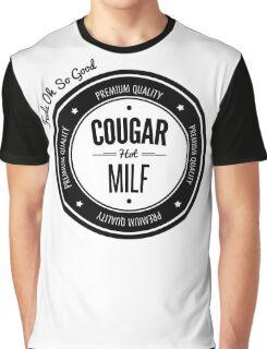 Vintage Retro Cougar Hot Milf T-shirt Graphic T-Shirt