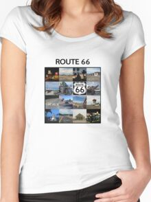 Route 66 Women's Fitted Scoop T-Shirt