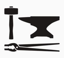 Blacksmith tools One Piece - Short Sleeve