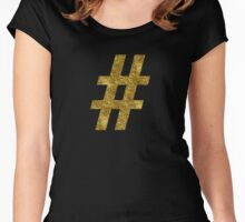 # hashtag   Golden Women's Fitted Scoop T-Shirt