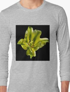 Green and white tulip flower Long Sleeve T-Shirt