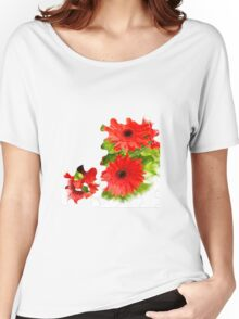 Puzzle-look gerbera photo Women's Relaxed Fit T-Shirt