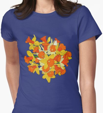 Daffodil Bouquet Womens Fitted T-Shirt