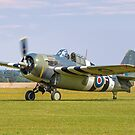 """Grumman FM-2 Wildcat G-RUMW JV579/F """"That Old Thing"""" by Colin Smedley"""