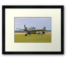 "Grumman FM-2 Wildcat G-RUMW JV579/F ""That Old Thing"" Framed Print"