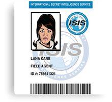 Lana Kane ID Badge Canvas Print