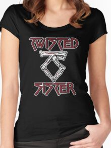 TWISTED SISTER STAY HUNGRY Women's Fitted Scoop T-Shirt