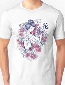 Geisha and Roses Tshirt T-Shirt