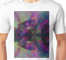 Lake Reflection of Autumn Colors Digital Watercolor Landscape Unisex T-Shirt