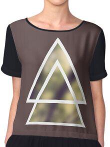triangles nature / triángulos naturaleza Chiffon Top
