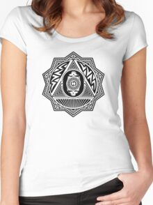 Grateful Dead Steal Your Face Mandala Women's Fitted Scoop T-Shirt