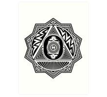 Grateful Dead Steal Your Face Mandala Art Print