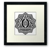 Grateful Dead Steal Your Face Mandala Framed Print