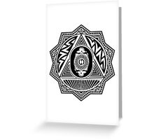 Grateful Dead Steal Your Face Mandala Greeting Card