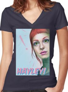 Hayley rocks! Women's Fitted V-Neck T-Shirt