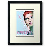 Hayley rocks! Framed Print