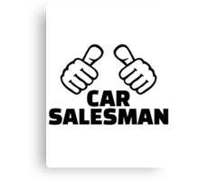 Car salesman Canvas Print