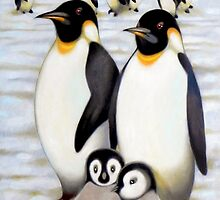 penguins by federico cortese