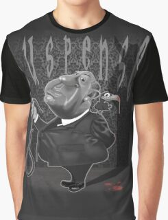 Suspense, Alfred Hitchcock Graphic T-Shirt