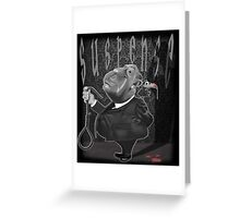 Suspense, Alfred Hitchcock Greeting Card