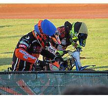 Riders at gates Photographic Print